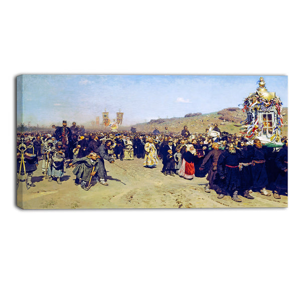 MasterPiece Painting - Ilya Repin Religious Procession in Kursk Gubernia