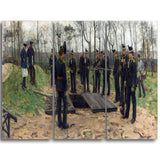 MasterPiece Painting - Isaac Israels Military funeral