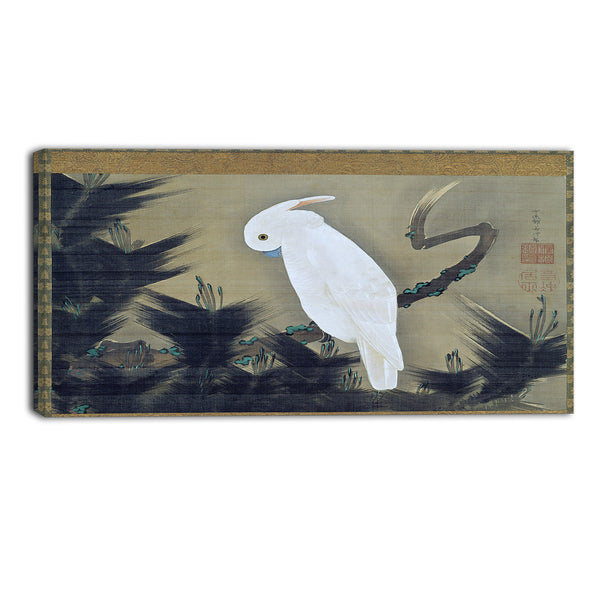 MasterPiece Painting - Ito Jakuchu White Cockatoo on a Pine Branch