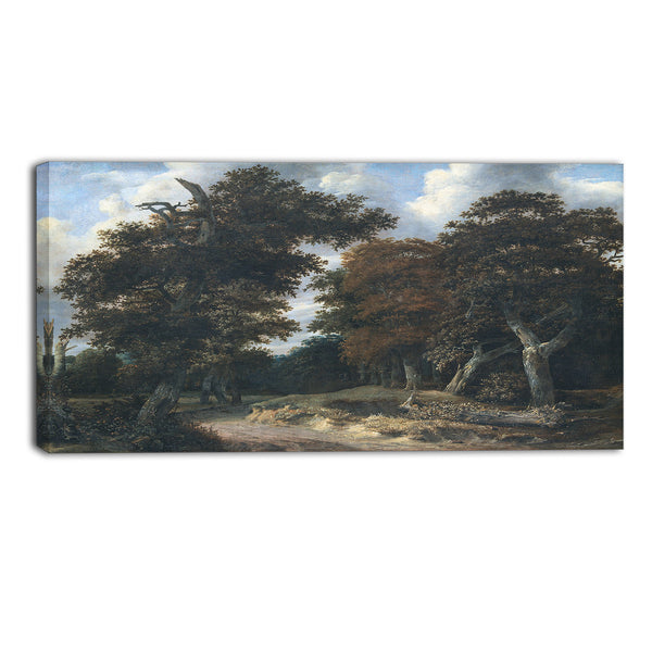 MasterPiece Painting - Jacob Isaacksz Road through an Oak Forest