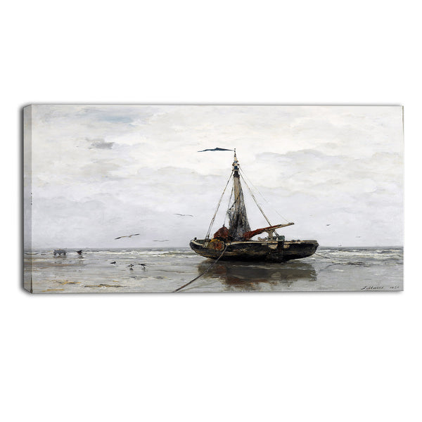 MasterPiece Painting - Jacob Maris Fishing Boat