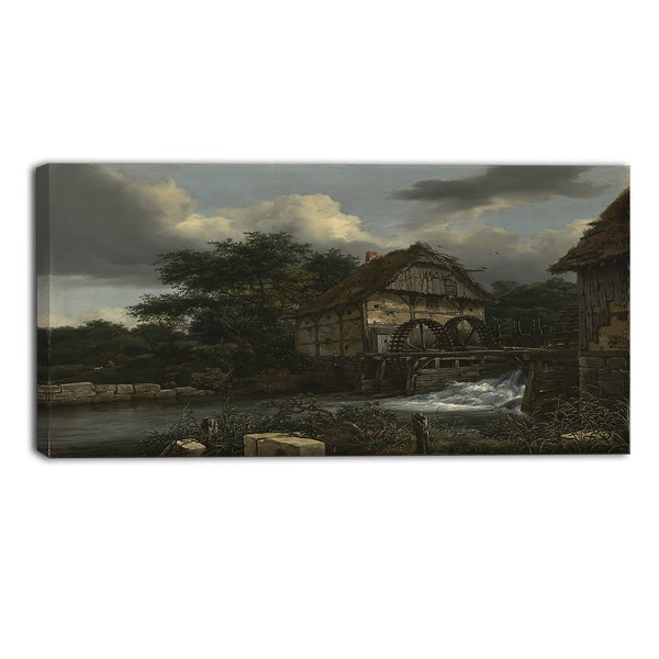 MasterPiece Painting - Jacob van Ruisdael Two Watermills and an Open Sluice
