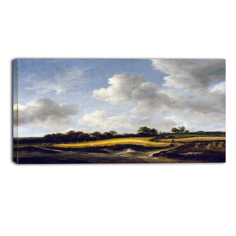 MasterPiece Painting - Jacob van Ruisdael Landscape with a Wheatfield