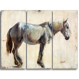 MasterPiece Painting - Jacques Laurent Agasse Study of a Grey Horse
