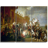 MasterPiece Painting - Jacques Louis David The Army takes an Oath to the Emperor