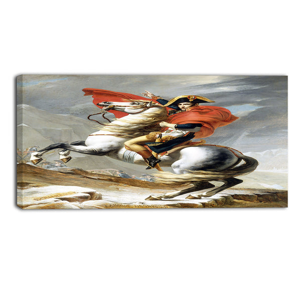 MasterPiece Painting - Jacques Louis Bonaparte Crossing the Grand Saint