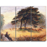MasterPiece Painting - James Smetham Lovers in Richmond Park (Windsor Park)