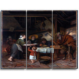 MasterPiece Painting - Jan Steen The Satyr and the Peasant Family