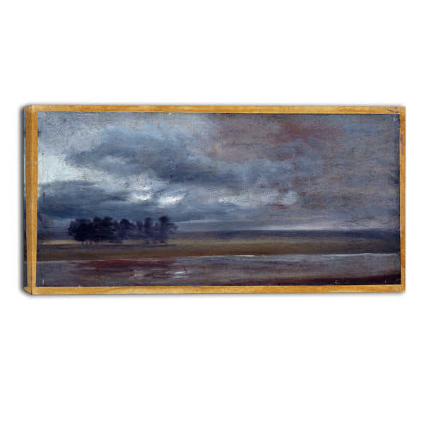 MasterPiece Painting - JC Dahl The Elbe in Rain
