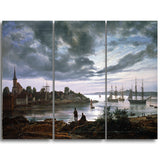MasterPiece Painting - JC Dahl Larvik by Moonlight