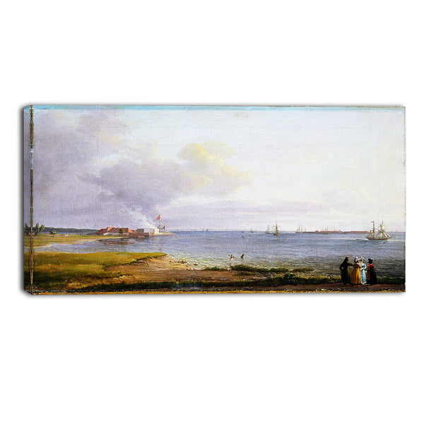 MasterPiece Painting - JC Dahl View over Oresund near the Lime Works