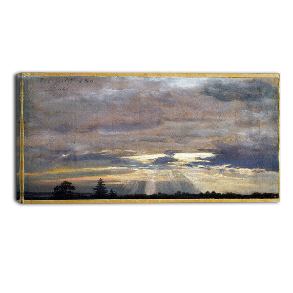 MasterPiece Painting - JC Dahl Cloud Study with Sunbeams