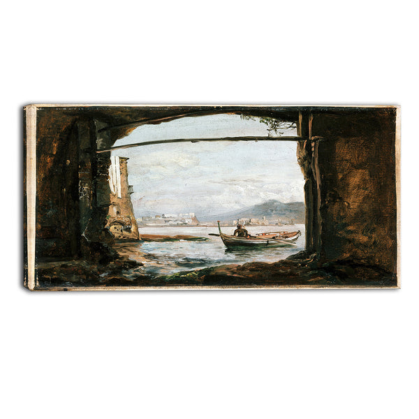 MasterPiece Painting - JC Dahl View from a Grotto Near Posillipo