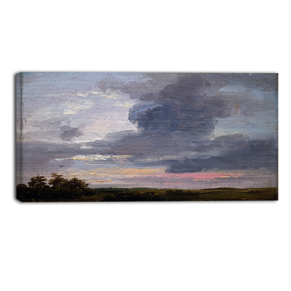MasterPiece Painting - JC Dahl Cloud Study over Flat Landscape