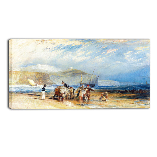 MasterPiece Painting - JMW Turner Folkestone Harbour and Coast to Dover