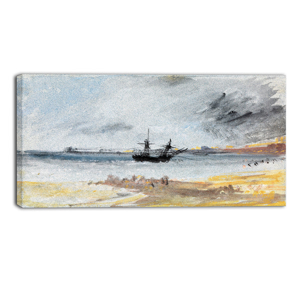 MasterPiece Painting - JMW Turner Ship Aground Brighton