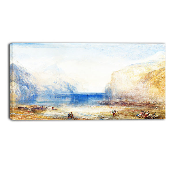 MasterPiece Painting - JMW Turner Fluelen Morning (looking towards the lake)