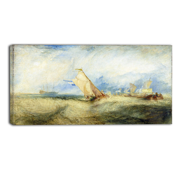 MasterPiece Painting - JMW Turner Van Tromp, Going About to Please his Masters
