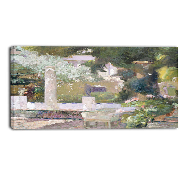 MasterPiece Painting - Joaquin Sorolla y Bastida The Gardens at the Sorolla House