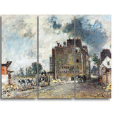 MasterPiece Painting - Johan Barthold Jongkind Demolition Work in Rue des Franc