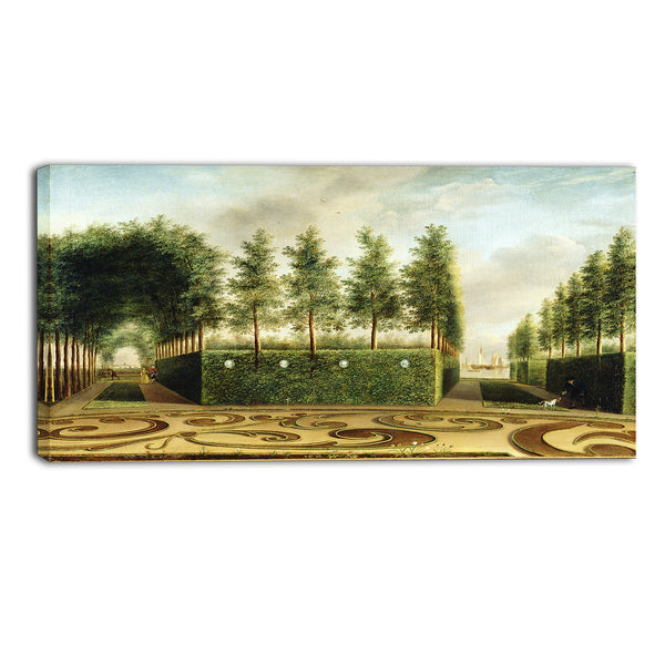 MasterPiece Painting - Johannes Janson A Formal Garden