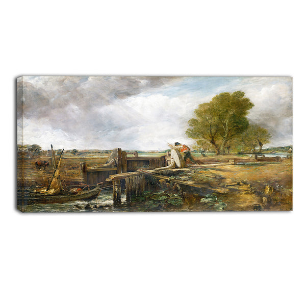 MasterPiece Painting - John Constable Study of a boat passing a lock