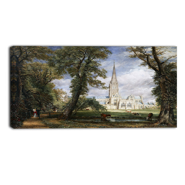 MasterPiece Painting - John Constable Salisbury Cathedral from the Bishop's Garden