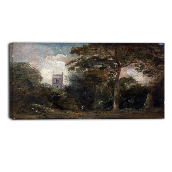 MasterPiece Painting - John Constable A Church in the Trees