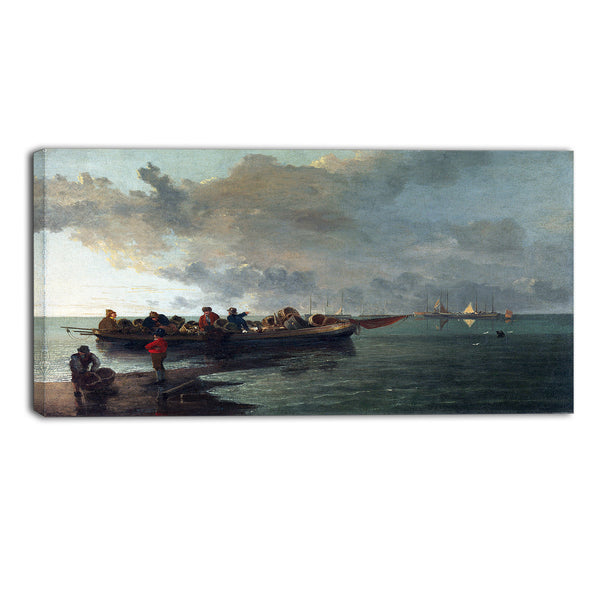 MasterPiece Painting - John Crome A Barge with a Wounded Soldier