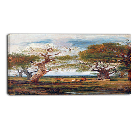 MasterPiece Painting - John Linnell Landscape with Firgures