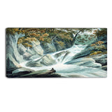 MasterPiece Painting - John Warwick Smith Hafod Upper Part of Cascade