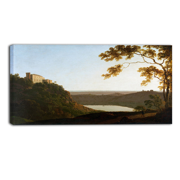 MasterPiece Painting - Joseph Wright Lake Nemi Sunset