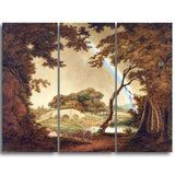 MasterPiece Painting - Joseph Wright Landscape with Rainbow