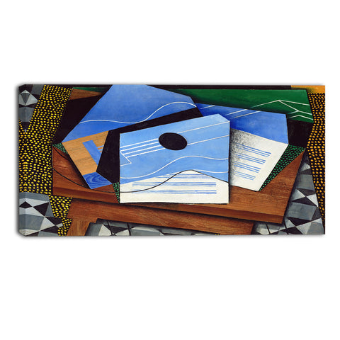 MasterPiece Painting - Juan Gris Guitar on a table