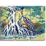 MasterPiece Painting - Katsushika Hokusai Pilgrims at Kirifuri Waterfal