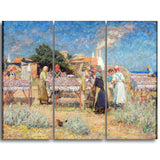 MasterPiece Painting - Laurits Tuxen Sun Drying Herrings