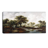 MasterPiece Painting - Meindert Hobbema A Wooded Landscape