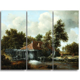 MasterPiece Painting - Meindert Hobbema A Watermill