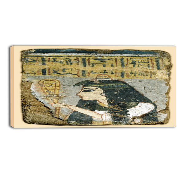 MasterPiece Painting - Wall Painting: Woman Holding a Sistrum 16Wx32H
