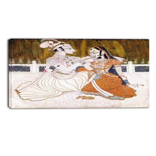 MasterPiece Painting - Krishna and Radha 16Wx32H