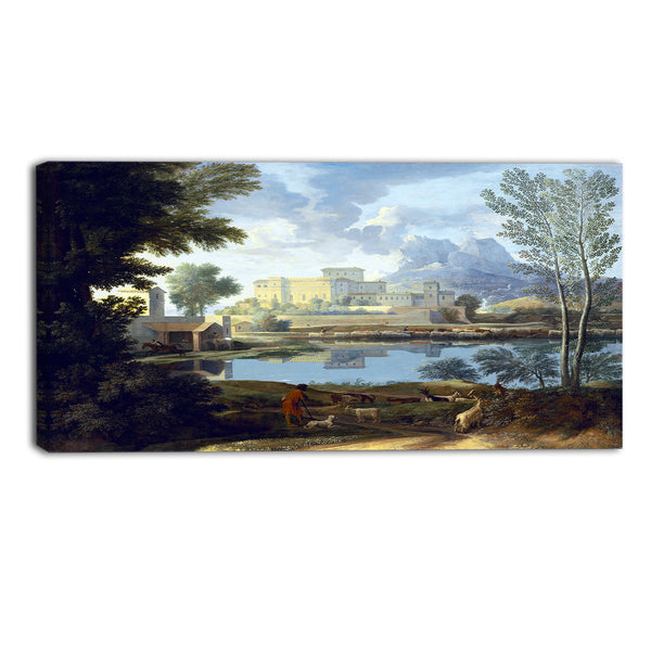 MasterPiece Painting - Nicolas Poussin Landscape with a Calm