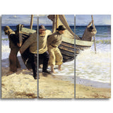 MasterPiece Painting - Oscar Bjorck Launching the boat, Skagen