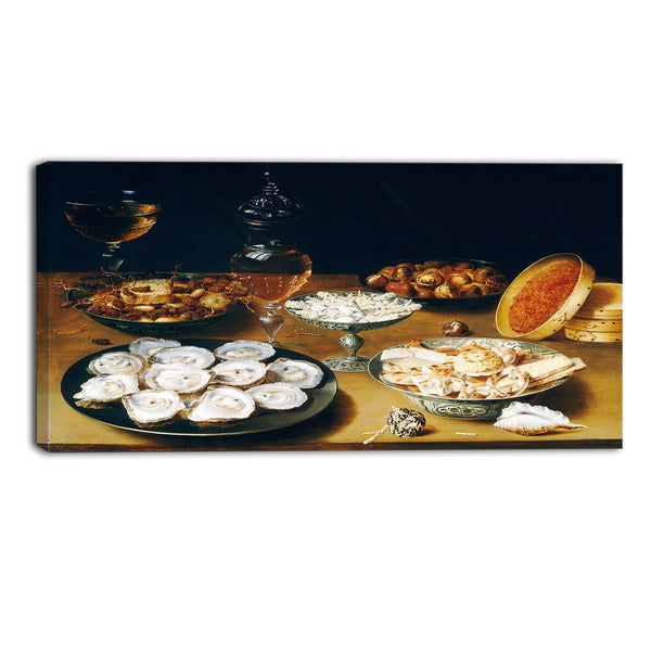 MasterPiece Painting - Osias Beert the Elder Dishes with Oysters, Fruit, and Wine