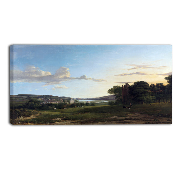 MasterPiece Painting - Patrick Nasmyth A View of Cessford and the Village of Caverton