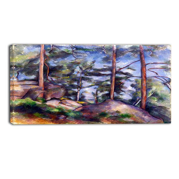 MasterPiece Painting - Paul Cezanne Pines and Rocks