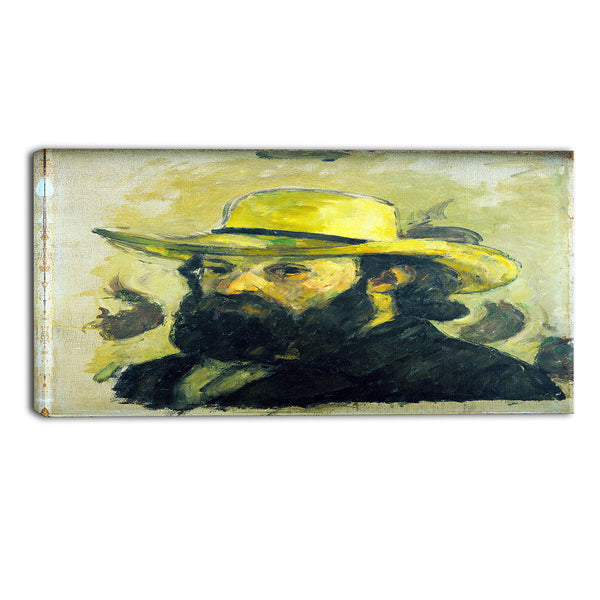 MasterPiece Painting - Paul Cezanne Self Portrait in a Straw Hat