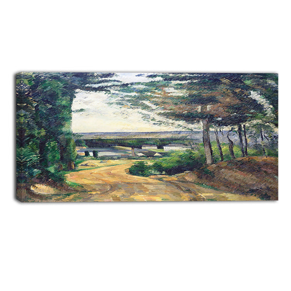 MasterPiece Painting - Paul Cezanne Road Leading to the Lake