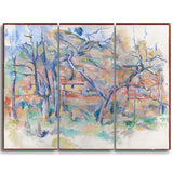 MasterPiece Painting - Paul Cezanne Taer og hus, Provence