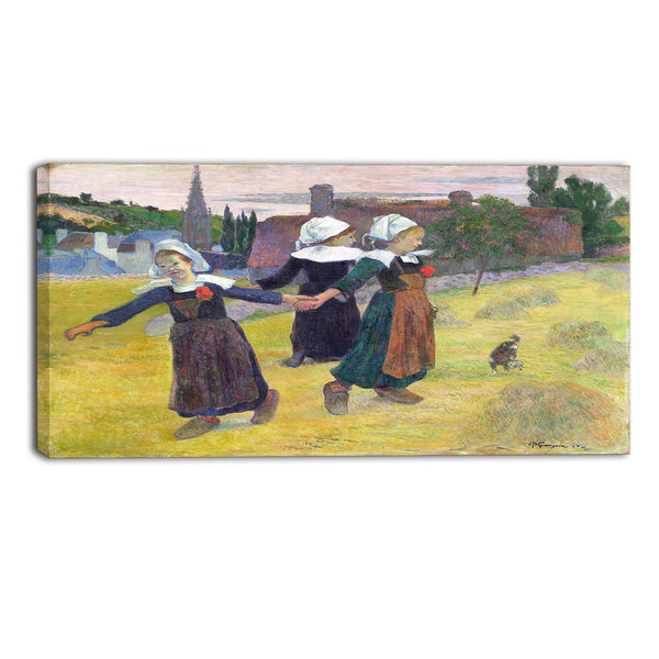 MasterPiece Painting - Paul Gauguin Breton Girls Dancing, Pont