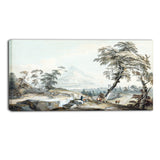 MasterPiece Painting - Paul Sandby Italianate Landscape with Travellers No. 1